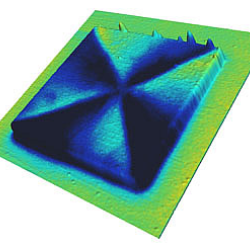 MFM images of a square magnetic structure